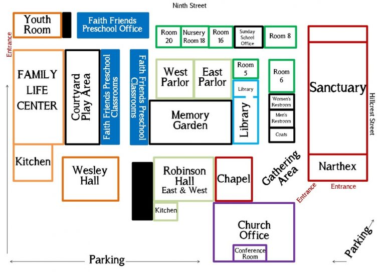 map of church rooms