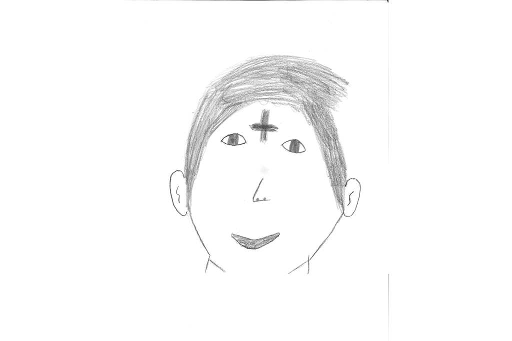 Ash Wednesday children's drawing