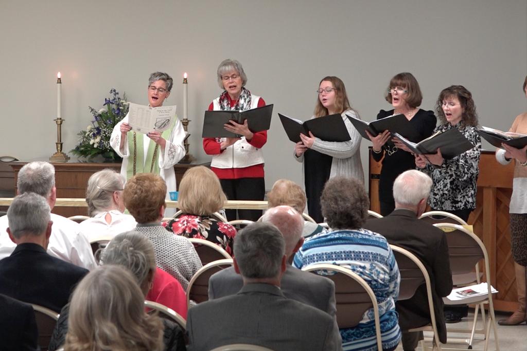 Ash Wednesday women singing